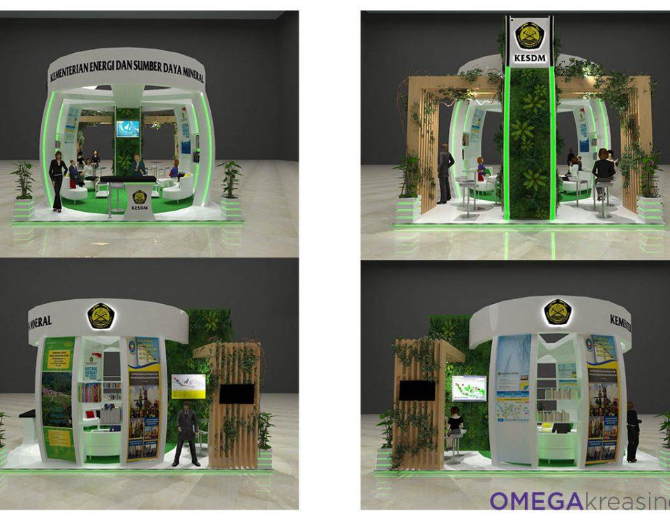 Booth 6 x 6, 4 sisi terbuka, Vendor booth