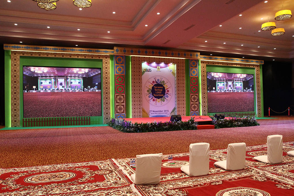 Backdrop PLN Taman Mini