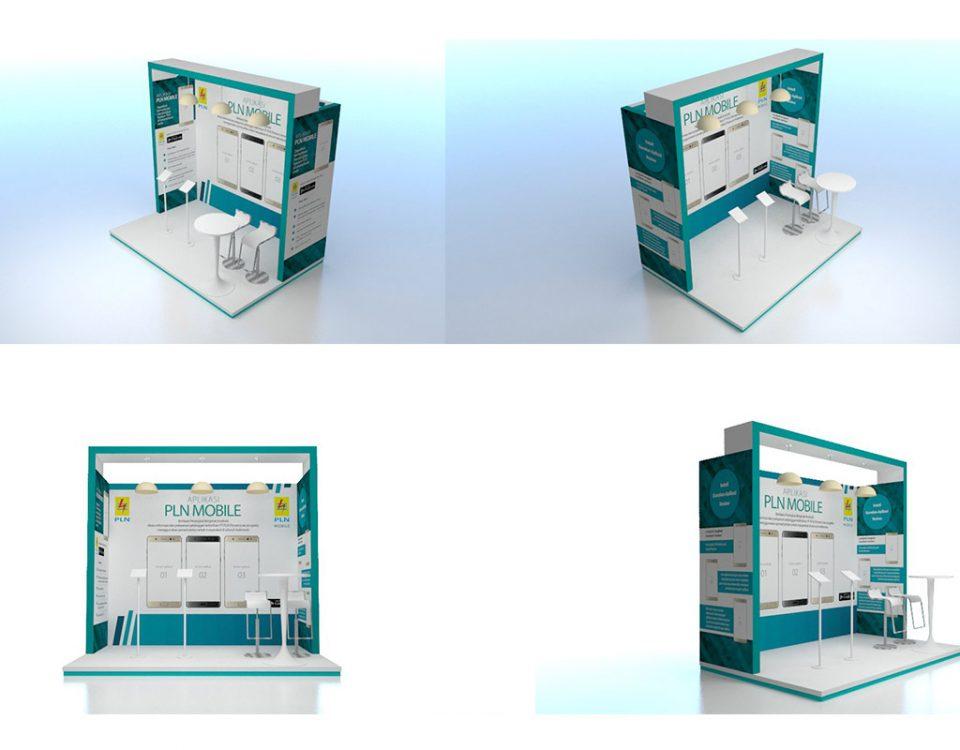 Booth PLN E ukuran 2 x 3
