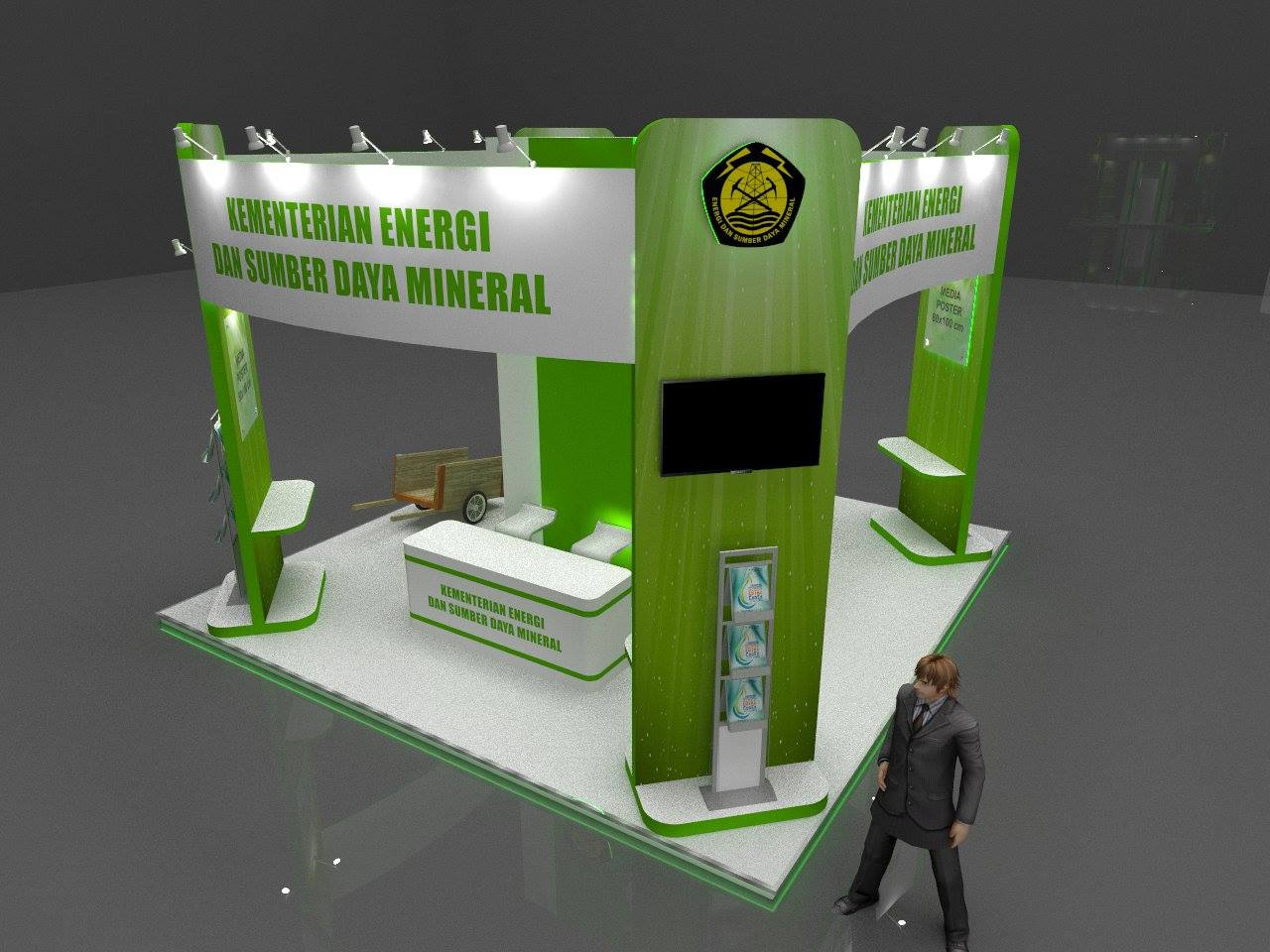 Booth ESDM 6 x ^ 4 sisi terbuka