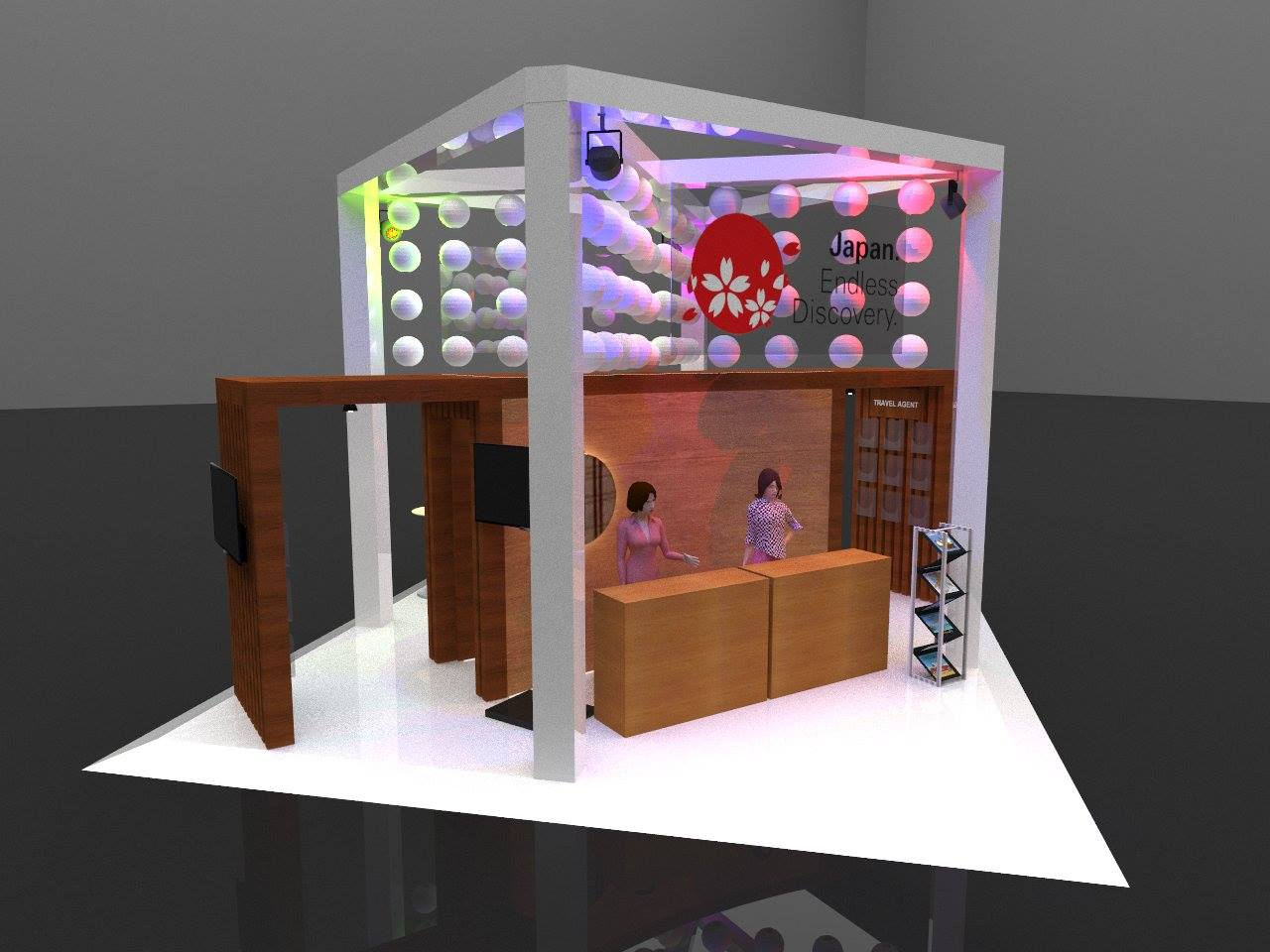 Booth Discovery Japan 6 x 6 meter
